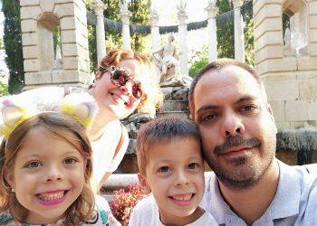 Rocío y su familia